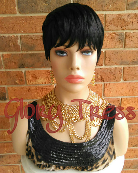 ON SALE // Short Razor Cut Full Wig, Pixie Cut Hairstyle, 100% Remy Human Hair Wig // REVIVE - Glory Tress