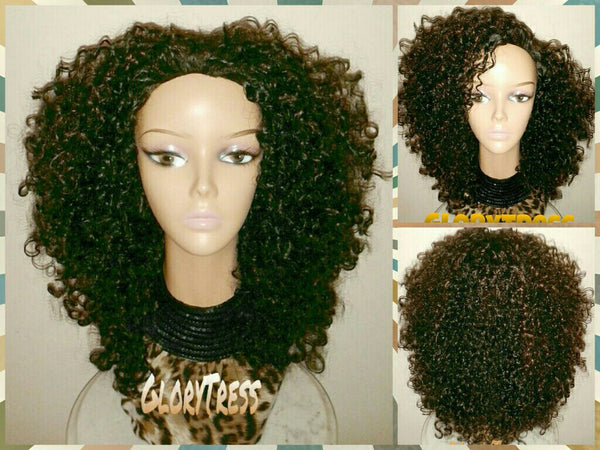 ON SALE // Celebrity Inspired Hairstyle, Kinky Curly Half Wig, Big Curly Afro Wig  // BLESSED - Glory Tress