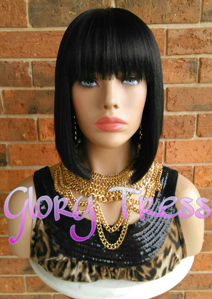 Wig, China Bob Wig, Glory Tress Wigs, 100% Human Hair Blend Wig, Short & Straight Full Wig, Yaki Straight Wig, ON SALE // EGYPTIAN