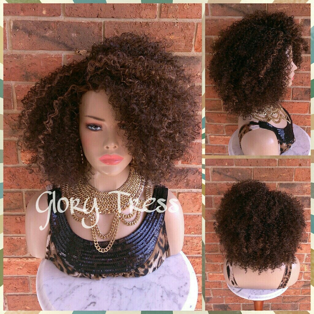 ON SALE // Kinky Curly Wig, Short Curly Half
