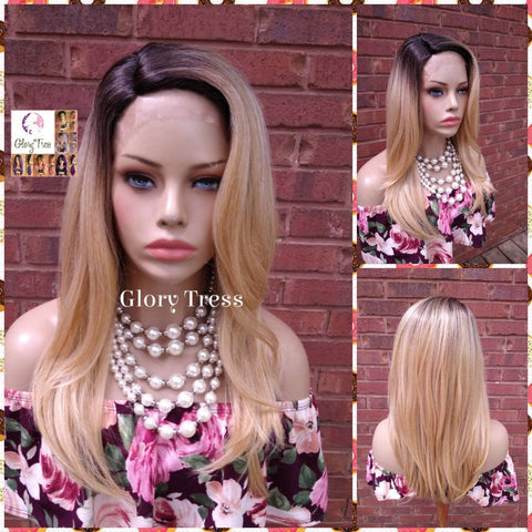 NEW ARRIVAL // Straight Lace Front Wig, Ombre Blonde Wig, Ombre Golden Platinum Blonde Wig, Glory Tress Wigs, // POWER