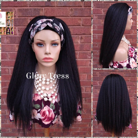 NEW ARRIVAL // Headband Half Wig -  Yaki Straight Half Wig - Beginner  Friendly Wig, Glory Tress Wigs - African American Wig // SECURE