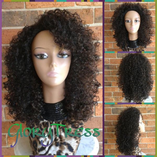 ON SALE // Kinky Curly Half Wig, Big Afro Curly Wig, African American Wig // VIRTUE - Glory Tress