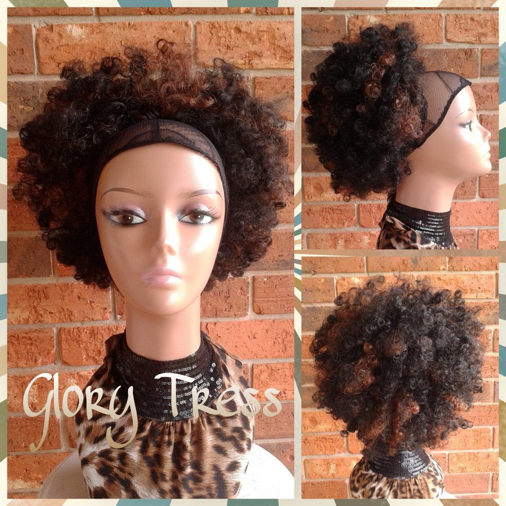 On Sale Kinky Curly Afro Drawstring Ponytail Ombre Ponytail