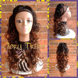 ON SALE // Long Curly Ponytail, Drawstring Ponytail Extensions, Ombre Ponytail // FLOURISH - Glory Tress