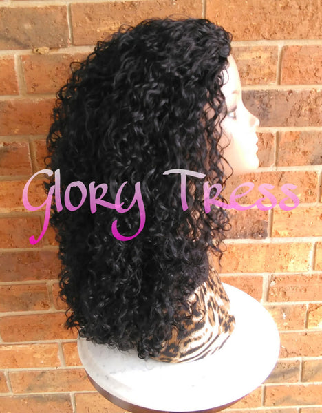ON SALE // Big Kinky Curly Half Wig, Beach Curly Afro Wig, African American Wig // AMAZING - Glory Tress