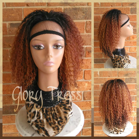 ON SALE //Kinky Curly Ponytail, Drawstring Ponytail Extensions, Ombre Ponytail  // - Glory Tress