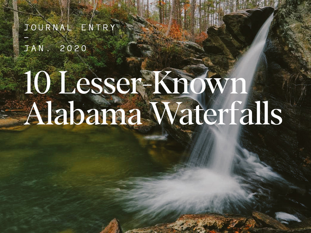 10 Lesser-Known Alabama Waterfalls