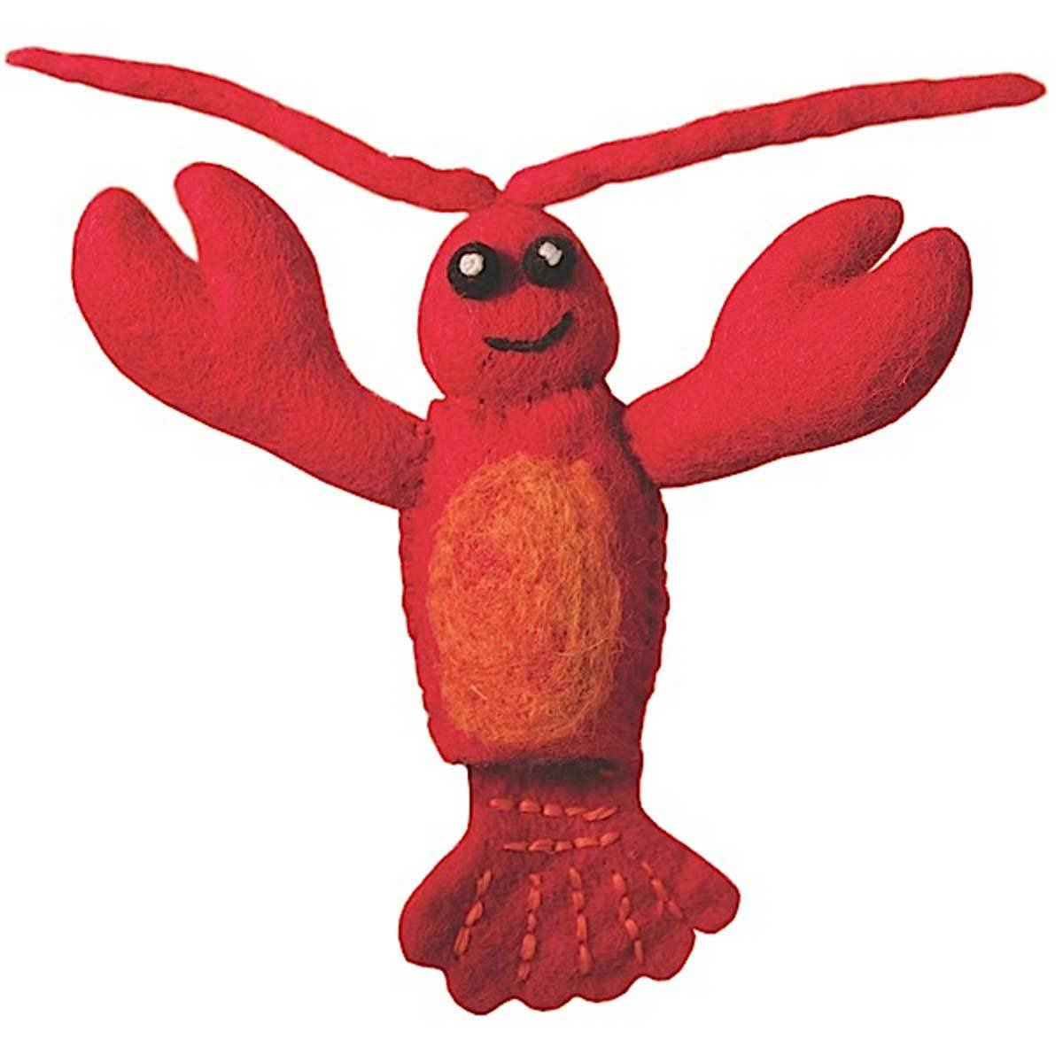 Wild Woolies Lobster Woolie Finger Puppet Jungle Pillows