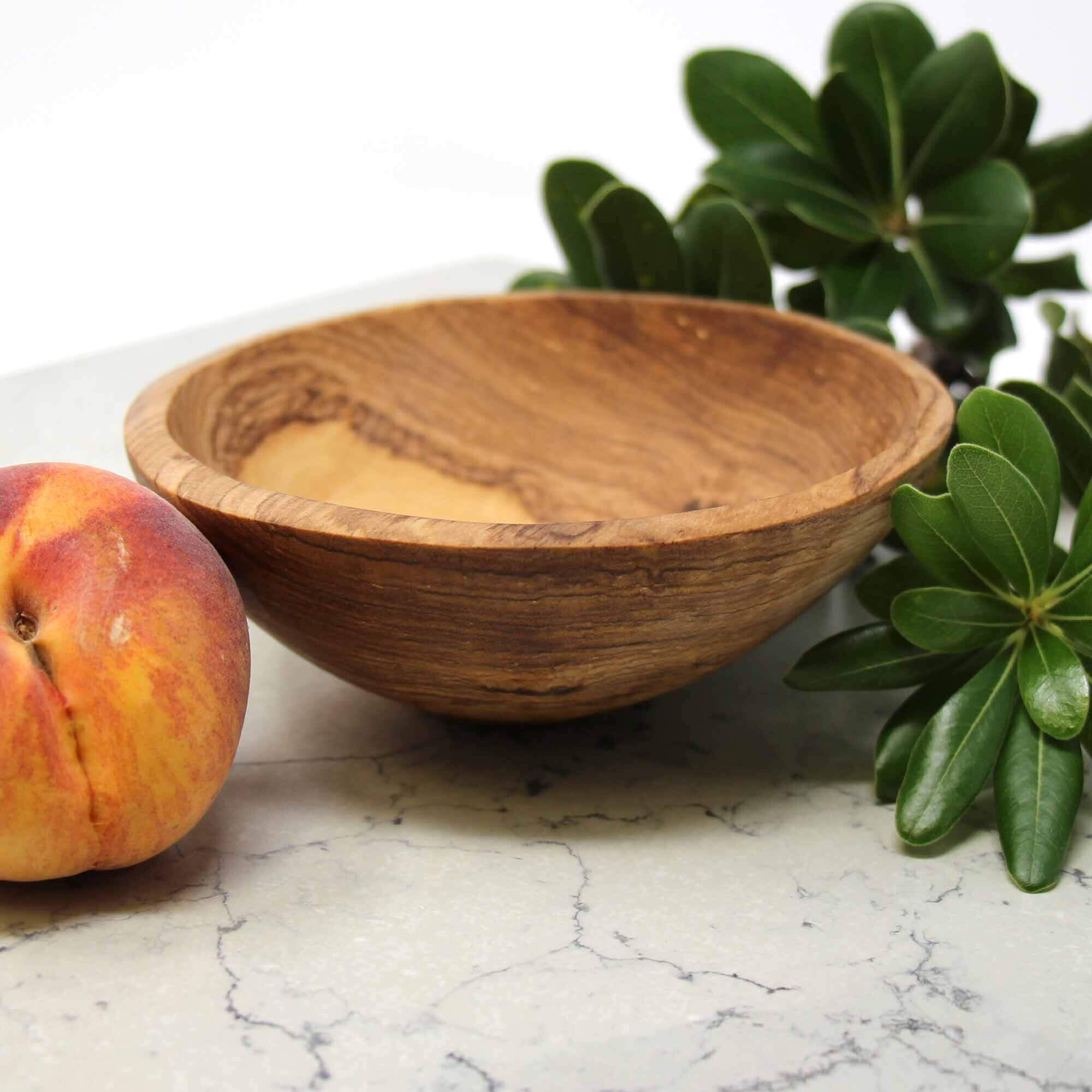 Jedando Handicrafts 6-Inch Hand-Carved Olive Wood Bowl