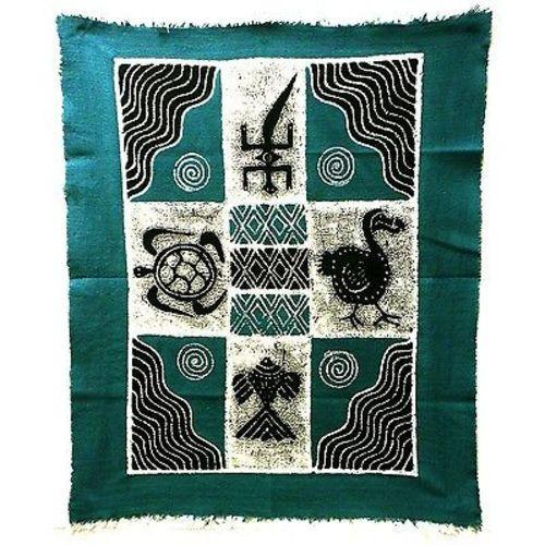 Tonga Textiles Four Creatures Batik in Blue/Black Jungle Pillows