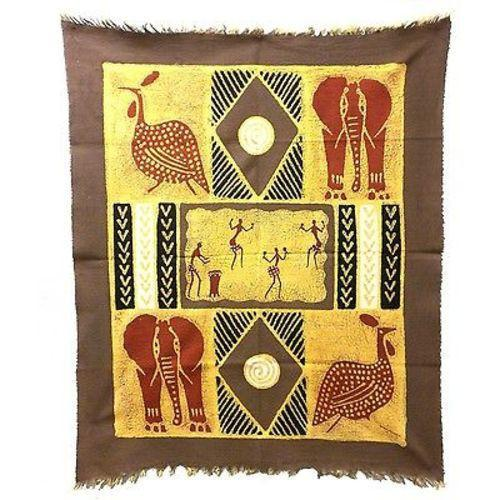 Tonga Textiles Dancers and Animals Batik in Gray/Red Jungle Pillows