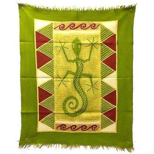 Tonga Textiles Gecko Batik in Green/Yellow/Red Jungle Pillows