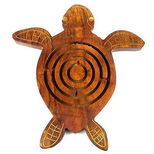 Matr Boomie Handmade Wooden Sea Turtle Labyrinth Jungle Pillows