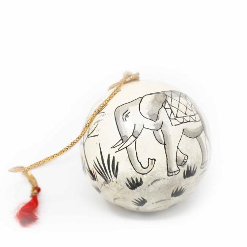 Asha Handicrafts Hand-Painted Elephant Ornaments