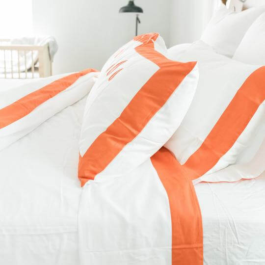Caché District Classic Sheet Set in Orange Jungle Pillows