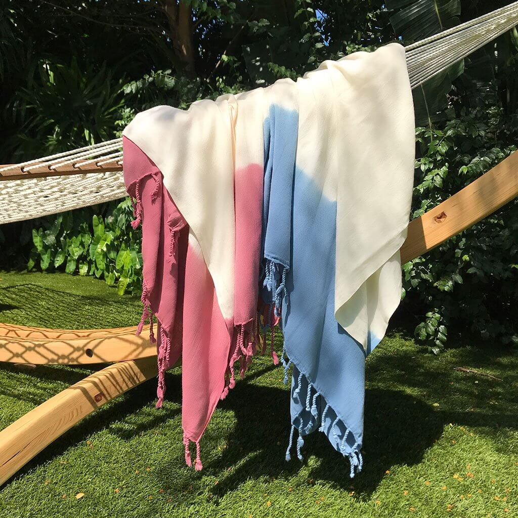 Slate + Salt Dip Dye Turkish Beach Towel