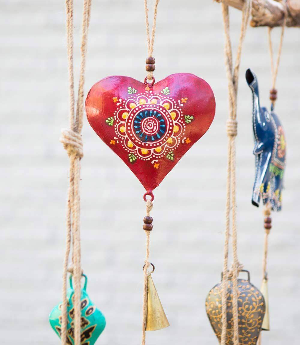 Matr Boomie Henna Treasure Bell Heart Chime