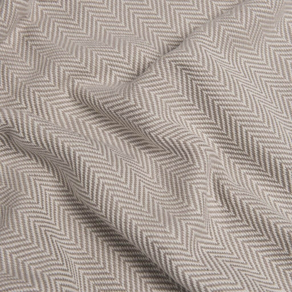 Slate + Salt Herringbone Turkish Cotton Throw Blanket
