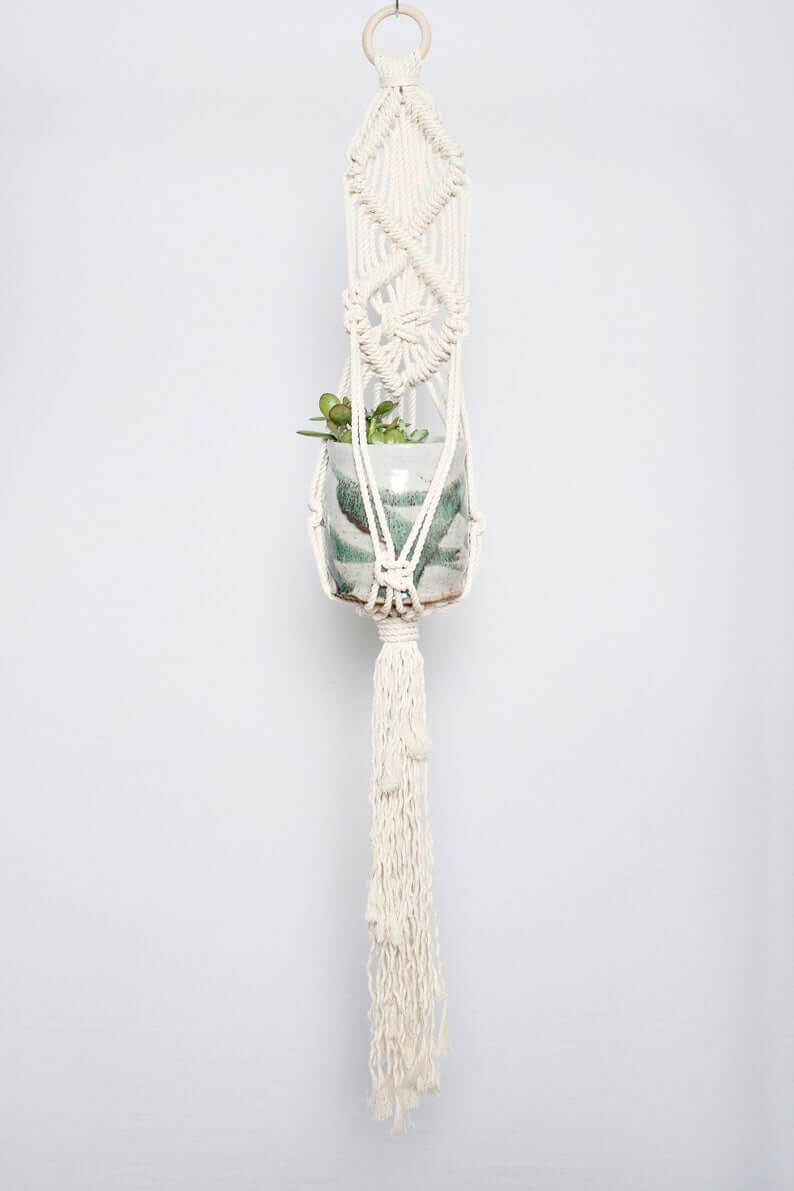 Macramama Macrame Diamond Plant Hanger Jungle Pillows