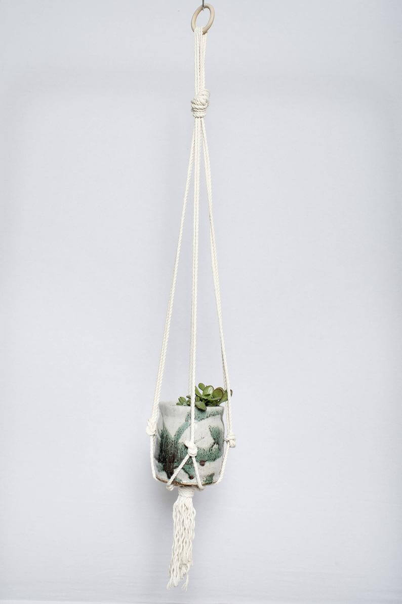 Macramama Macrame Simple Plant Hanger Jungle Pillows