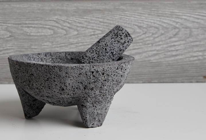 Verve Culture Molcajete with Tortilla Basket