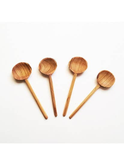Acacia Creations Olive Wood Coffee Spoon Set