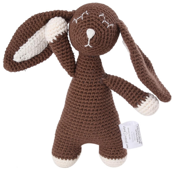 Our Green House Organic Stuffed Sleepy Bunny Toy
