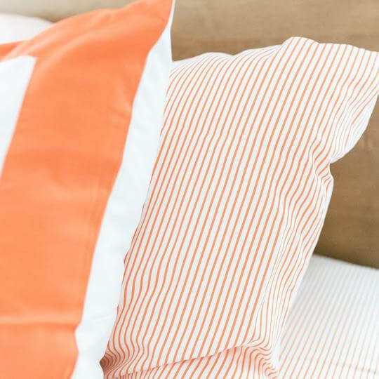 Caché District Pinstripe Shams in Orange