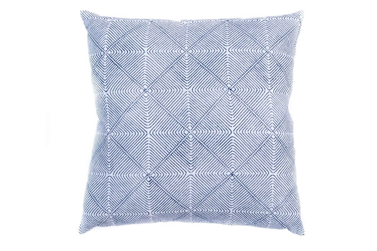Bloom & Give Prism Indigo Pillow Jungle Pillows