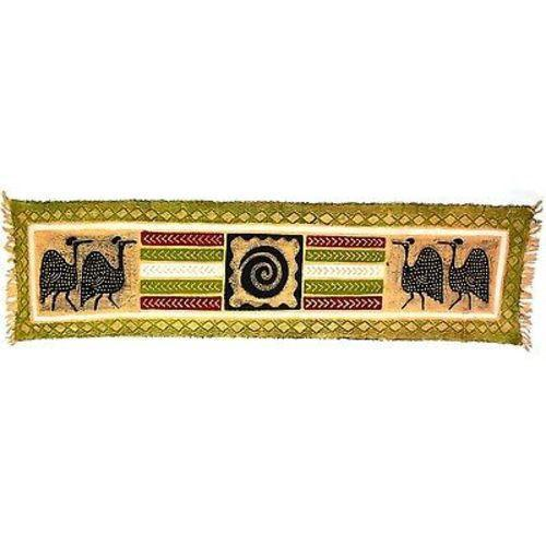 Tonga Textiles Horizontal Green Guinea Fowl Batik Jungle Pillows