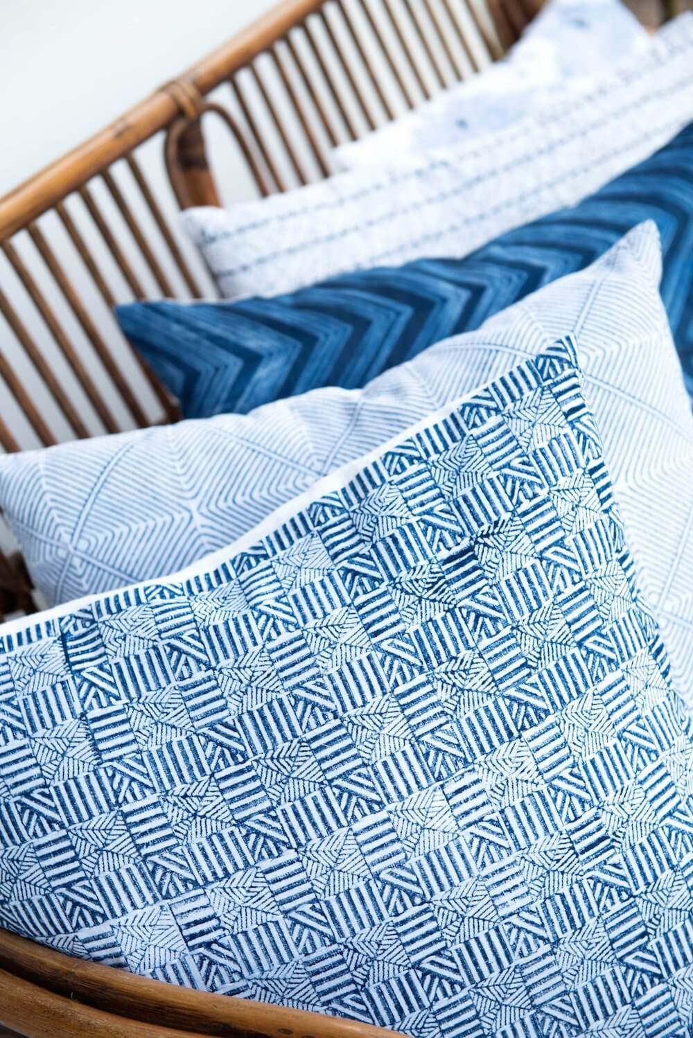 Bloom & Give Temple Indigo Pillow Jungle Pillows