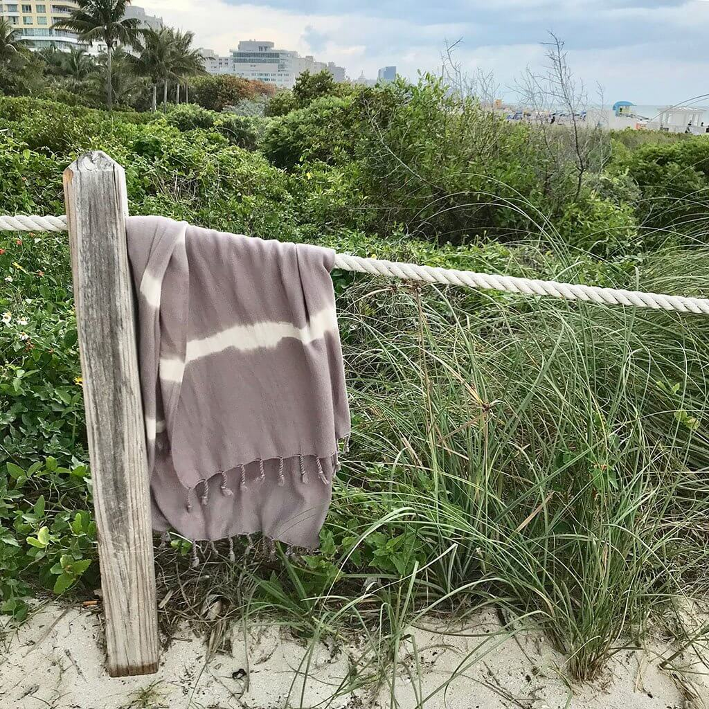 Slate + Salt Tie Dye Turkish Beach Towel
