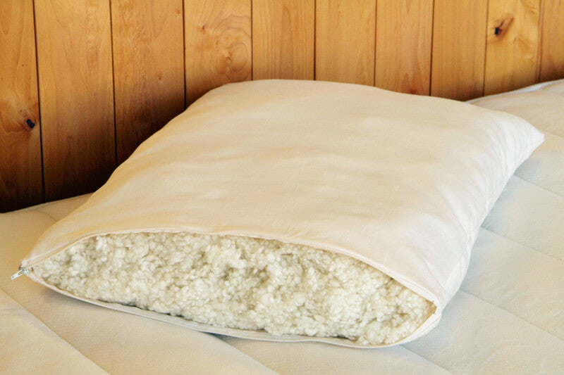 "Holy Lamb Organics Natural Children's Woolly ""Down"" Pillow Jungle Pillows"