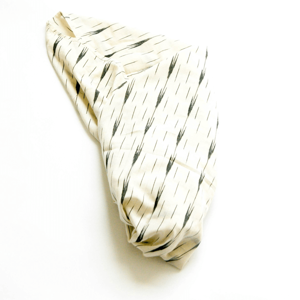 Rustic Loom White Arrow Stripe Handwoven Cotton Ikat Baby Swaddle Wrap Jungle Pillows