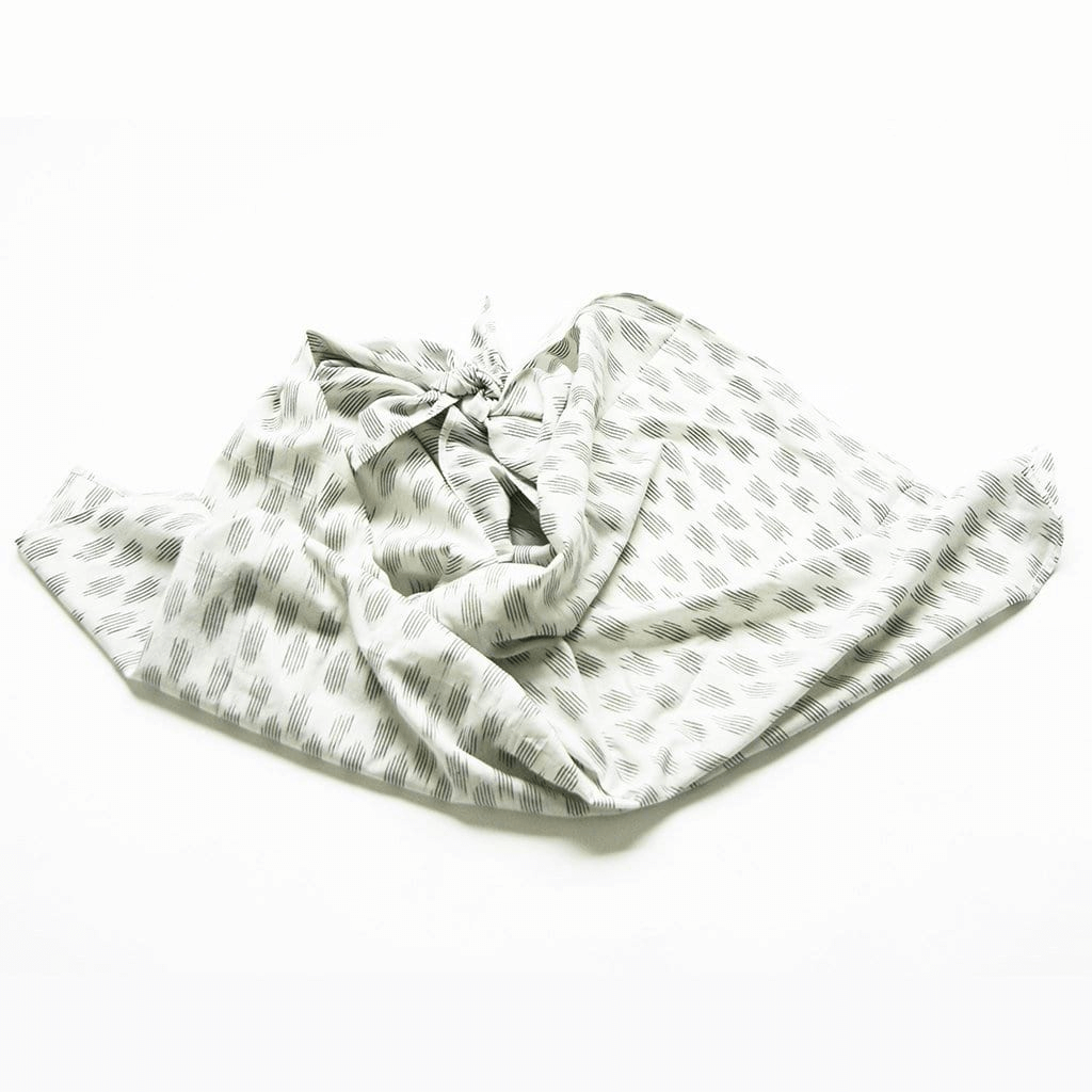Rustic Loom White Gray Dot Artisan Woven Ikat Baby Swaddle Jungle Pillows