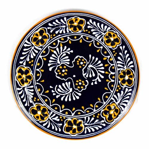 "Encantada Blue Handmade Pottery 8"" Trivet or Wall Hanging Jungle Pillows"