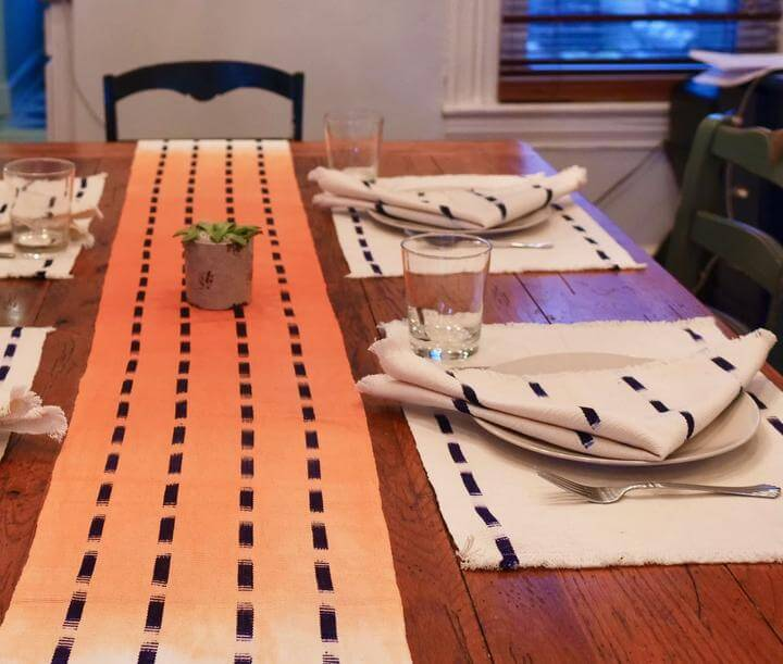 Living Threads Co. Anah Dip Dye Table Runner
