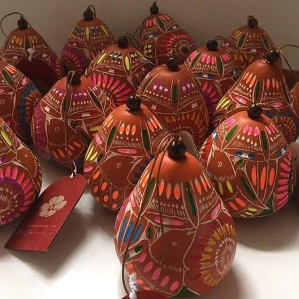 Blossom Inspirations Christmas Gourd Ornament Adviento | Jungle Pillows