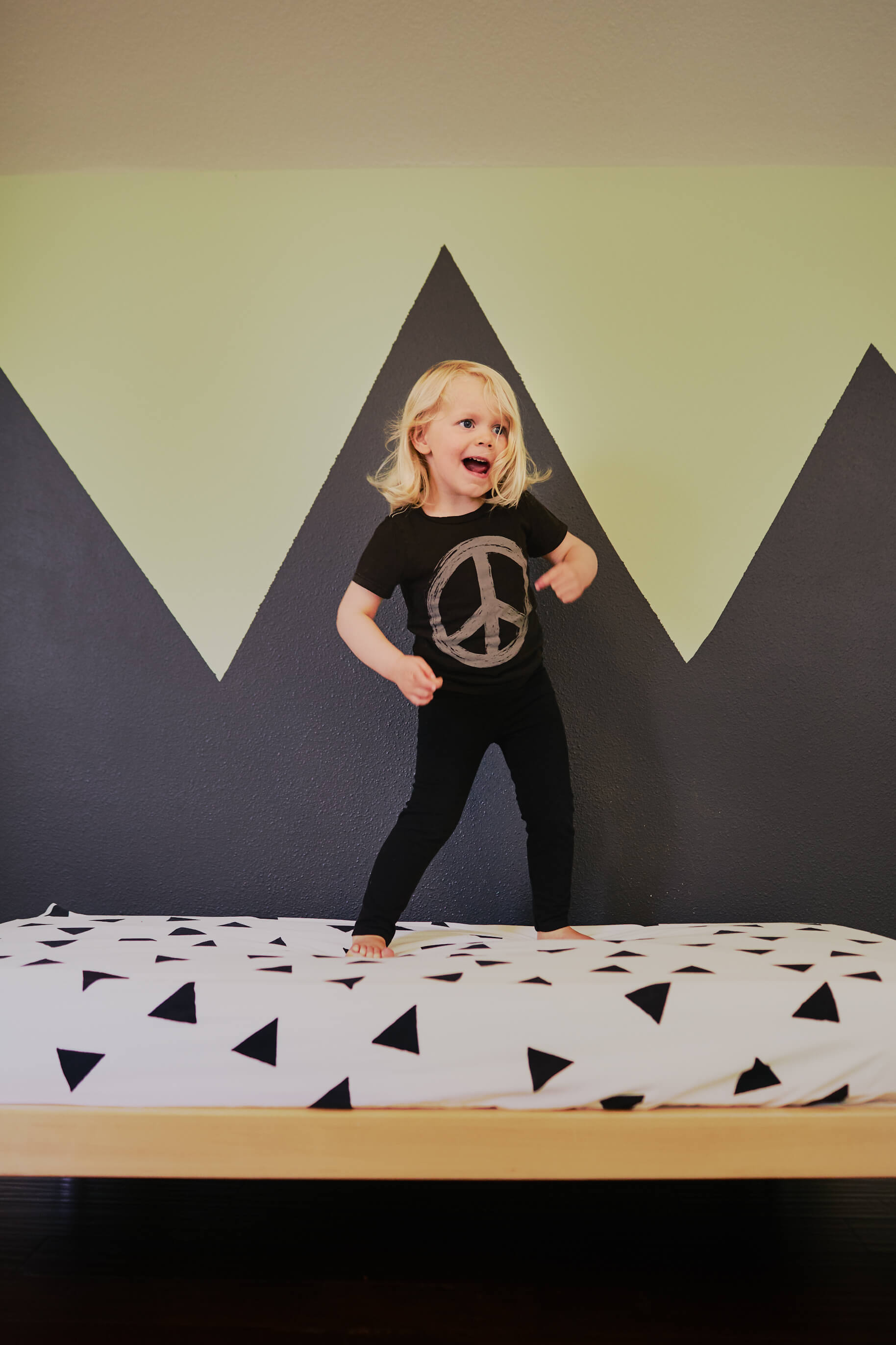 Kindred Kid & Baby Organic Cotton Triangle Crib Sheet Jungle Pillows