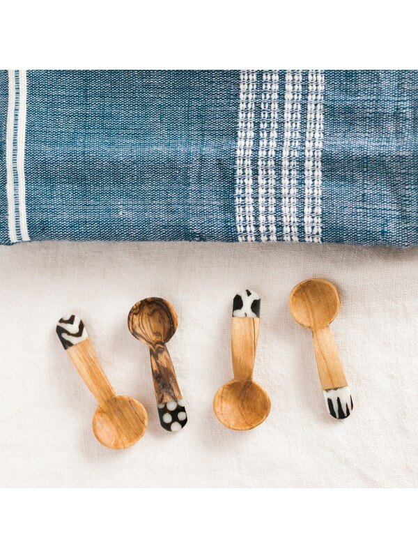 Acacia Creations Olive Wood Teaspoon Set