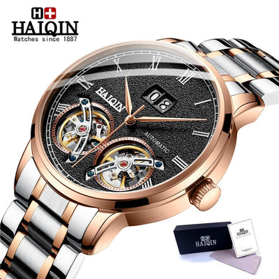 HAIQIN Men's watches Mens Watches top brand luxury Automatic mechanical sport watch men wirstwatch Tourbillon Reloj hombres 2018 - zolean