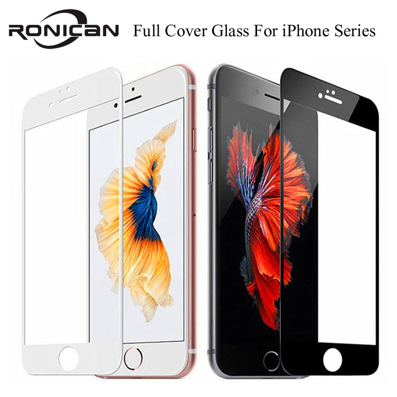 9H Full Coverage Cover Tempered Glass For iPhone 7 8 6 6s Plus Screen Protector Protective Film For iPhone X XS Max XR 5 5s SE - zolean