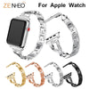 For Apple Watch band 40mm 44mm 38mm 42mm women Diamond Band for iWatch series 4 3 2 1  bracelet stainless steel strap Wristband - zolean