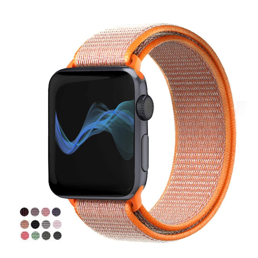 Band For Apple Watch 4 Series 3/2/1 38MM 42MM Nylon Soft Breathable Replacement Strap Sport Loop for iwatch series 4 40MM 44MM - zolean