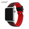 JANSIN Sport band for apple watch series 5 4 3 2 bracelet iWatch 5 band 40mm 44mm Soft Silicone strap for apple watch 38mm 42mm - zolean