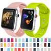 Soft silicone band For Apple watch 5 4 3 2 1 Band 42mm 38mm Replace Bracelet Strap watchband 44mm for iwatch 4 3 2 1 40mm Band - zolean