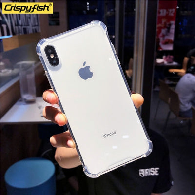 Shockproof Bumper Transparent Silicone Phone Case For iPhone X XS XR XS Max 8 7 6 6S Plus Clear protection Cover For 11 Pro Max