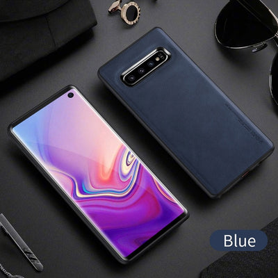 LLZ.COQUE Premium Leather Ultra Slim Thin Cover Shackproof Case for Samsung Galaxy S10e S9 S10 Plus Note 9 Fundas Covers Capas