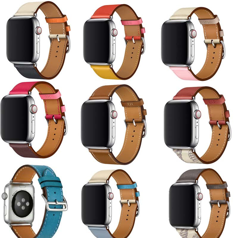 Bracelet for iwatch belt Series 5/4/3/2/1 Genuine Leather strap For Apple Watch band Single Tour 38mm 42mm 40mm 44mm - zolean